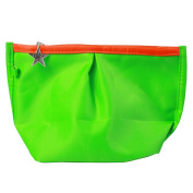 JAVOedge Green Travel Cosmetic / Makeup / Toiletry Bag Organiser with Star Zipper Pull and Wristlet