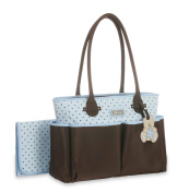 Little Me Teddy Bear Tote Nappy Bag - Blue