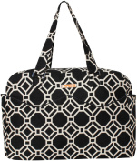 Foxy Vida - Black Lattice Satchel Nappy Bag