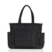 Infant TWELVElittle 'Love' Water Resistant Nylon Nappy Tote - Black