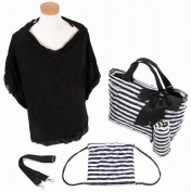THEA THEA Santa Monica Nappy Bag with Nursing Cape - Black/White Stripe