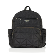 Infant TWELVElittle Quilted Water Resistant Nylon Nappy Backpack - Black