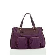 Infant Girl's TWELVElittle 'Allure Satchel' Nylon Nappy Bag - Purple