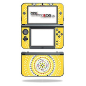 MightySkins Protective Vinyl Skin Decal for New Nintendo 3DS XL (2015) cover wrap sticker skins Yellow Aztec
