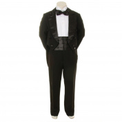 Kids Dream Black Formal 5 pcs Tail Special Occasion Boys Tuxedo 18M
