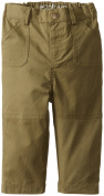 Egg by Susan Lazar Baby Boys' Casual Twill Pant, Army, 12 Months