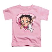 Betty Boop Little Boys' I Love Betty Childrens T-shirt 3T Pink