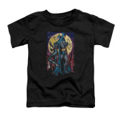 BATMAN/PAINT THE TOWN RED - S/S TODDLER TEE - BLACK - LG