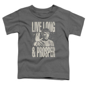 Star Trek Prosper Little Boys Shirt Charcoal SM