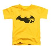 Batman Little Boys' 75 Logo Childrens T-shirt 4T Yellow