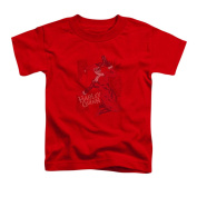 BATMAN/HARLEY'S PACKING - S/S TODDLER TEE - RED - SM