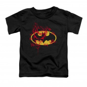 Trevco Batman-Joker Graffiti - Short Sleeve Toddler Tee - Black, Small 2T