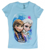 Frozen Sisters Turquoise Short-Sleeve T-Shirt - Small