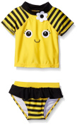 Candlesticks Baby Girls Bumble Bee Rashguard Set