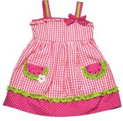 Samara Baby Girls Watermelon Gingham Dress