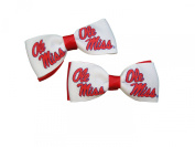University of Mississippi Hair Bow Pair
