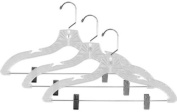 Home Basics 3-Piece Crystal Hanger with Clips