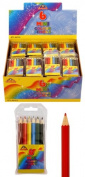 6 (Six) x Pack of 6 Mini Colouring Pencils