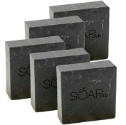Pine Tar Organic Shea Butter Soap with Coconut Oil By Soap Club 160ml 5 Pack