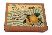 Handmade Soap, Olive Oil Soap Bar with Vintage Labels, 100% Natural, Scented Soaps, Lemon Calendula, Great for Those Sensitive to Detergent Based Cleansing Bars, 130mls