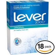 (PACK OF 18 BARS) Lever 2000 ORIGINAL SCENT Bar Soap for Men & Women. NON-DRYING! Great for Healthy Feeling Hands, Face & Body!