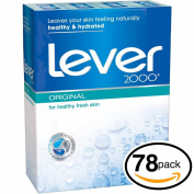 (PACK OF 78 BARS) Lever 2000 ORIGINAL SCENT Bar Soap for Men & Women. NON-DRYING! Great for Healthy Feeling Hands, Face & Body!