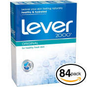 (PACK OF 84 BARS) Lever 2000 ORIGINAL SCENT Bar Soap for Men & Women. NON-DRYING! Great for Healthy Feeling Hands, Face & Body!