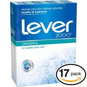 (PACK OF 17 BARS) Lever 2000 ORIGINAL SCENT Bar Soap for Men & Women. NON-DRYING! Great for Healthy Feeling Hands, Face & Body!