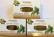 Patanjali Multani-Mitti Body Soap - 75g - Pack of 3