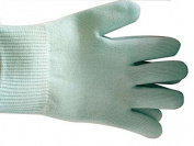Global Huntress Best Luxurious Soft Cotton Gloves with Thermoplastic Gel Lining Infused with Botanical Oils - Green - One Pair