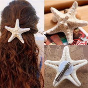 BephaMart Women Girls Nice Starfish Hair Clip Beach Sea Star Hairpin Shipped and Sold by BephaMart