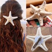 BephaMart Women Girls Nice Starfish Hair Clip Beach Sea Star Hairpin Shipped and Sold by BephaMart
