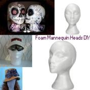BephaMart Styrofoam Bald Mannequin Head Stand Foam Manikin Head Shipped and Sold by BephaMart