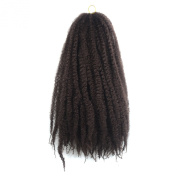 """Simpleyourstyle 32pcs/1Pack Afro Kinky Curly Crochet Braids Hair 34"""" 86cm 100g Synthetic Twists Braiding Hair Extension 33#"""