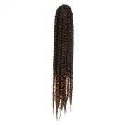"Simpleyourstyle 12pcs/1Pack Havana Mambo Twist Crochet Braids Hair 24"" 60cm 120g Synthetic Senegalese Twists Braiding Hair Extension 1BT30"