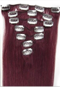 """Futuretrend20""""7pcs Fashional Clips in Remy Human Hair Extensions 24 Colours for Women Beauty Hot Sale"""