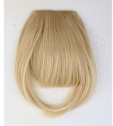 "LAY Long Thick 8""(20cm) False Bang Golden Mix Bleach Blonde Hairpiece Bangs/fringe Clip in Hair Extensions One Piece Straight Hairpiece Accessories"
