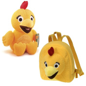 Sunny Side Up Chicka Squeak Plush and Backpack - Childrens Travel Buddies