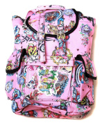 Hipster Rucksack Style Backpack - Pink Hard Style Tattoo