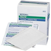 Telfa Non-Stick Pads With Adhesive 7.6cm X 10cm -100 by KENDALL HEALTHCARE.