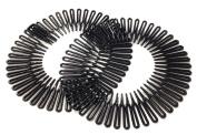 2 Black Flexi Combs