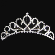 joylive Stylish Princess Crystal Austrian Rhinestone Tiara Hair Comb Crown