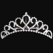joylive . Princess Crystal Austrian Rhinestone Tiara Hair Comb Crown