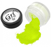 Grl Cosmetics Cosmetic Glitter Makeup for Face, Eyes, Lips, Nails and Body - GL49 Neon Yellow, 5 Gramme Jar