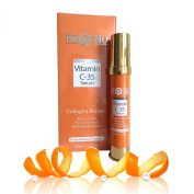 Vitamin C 35% Serum with Hyaluronic Acid and Retinoic Acid -Stimulates Collagen for Anti Ageing, Repairs Dark Circles Around Eyes and Sun Damage for Skin, Face and Neck, Fades Age Spots and Wrinkles