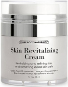 Skin Revitalising Cream - Glycolic Acid Moisturiser 10% Naturally Exfoliates, Improves Elasticity, Visibly Reduces Wrinkles and Deeply Moisturises - Allantoin, AHA, Hydrolyzed Collagen