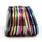 Gotd Rolls Striping Tape Line Nail Art Decoration Sticker Brand 30 Kinds of Colours