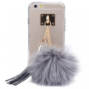 DZT1968® Soft Clear Case Cover With Fur Ball TasselsFor iPhone 6 Plus / 6S Plus
