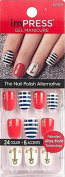 """**NEW 2016** KISS 2x Longer Lasting imPRESS """"BELLS & WHISTLES"""" by Broadway Press-On Manicure Nails"""