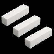 3 Pcs White Buffer Buffing Sanding Block File Manicure Pedicure For Nail Art